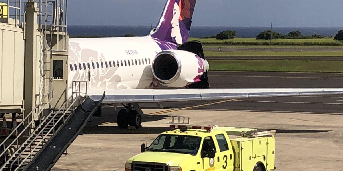 'Mal funcionamiento del motor' a mitad del despegue obliga a la cancelación de un vuelo de Hawaiian Airlines