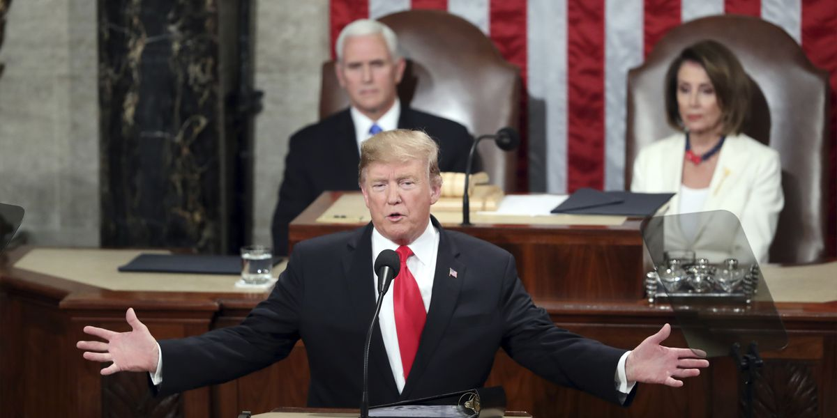 Image result for photos of trump at STATE OF THE UNION ADDRESS 2019