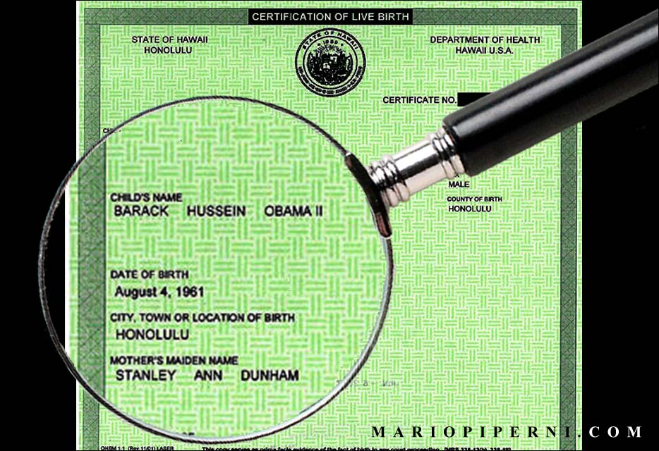 Obamas Birth Certificate Scandal Hawaii Reporter