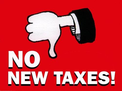 No New Taxes