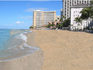 This is Waikiki beach after the replenishment, state officials said
