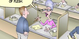 Vehicle registration fees color cartoon