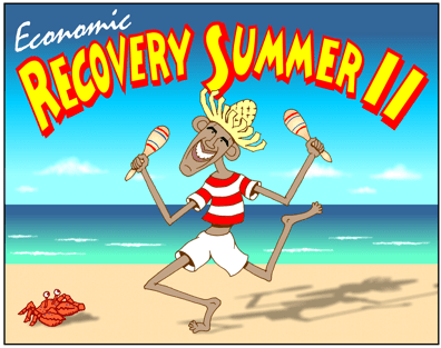 Economic Recovery Summer II Calypso Obama Cartoon