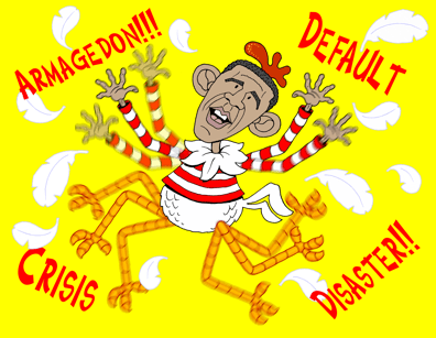 Obama Chicken Little, the sky is falling, debt ceiling