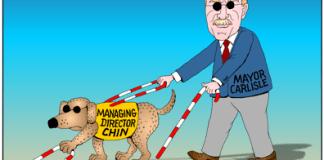 Peter Carlisle, Douglas Chin cartoon