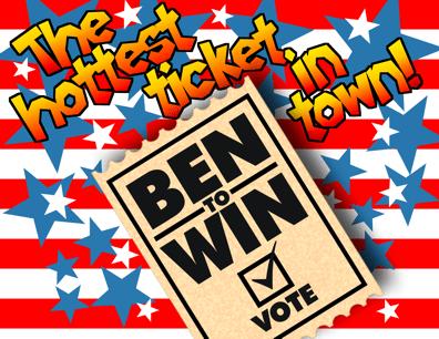 Vote Ben Cayetano to win Honolulu mayor's race in Hawaii primary color cartoon illustration