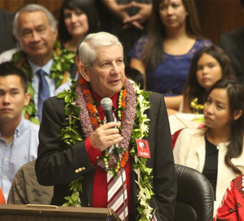 Sen. Sam Slom, minority leader (photo by Mel Ah Ching)