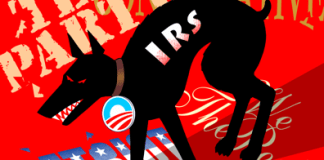 IRS Attack on Tea Party, Patriots, cartoon