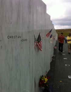 The Shanksville, PA memorial to 9-11 victims of United Airlines Flight 93