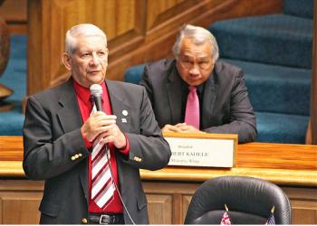 Senate Minority Leader Sam Slom
