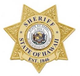 Hawaii state sheriff shield