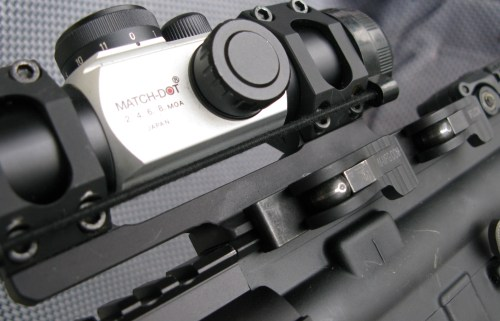 The ADM Recon Scope Mount has proven to be a great value. Pictured here with a Match-Dot scope atop an AR.