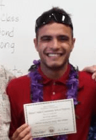 Kevin Lee Mosele shows off his GED on McKinley Community School for Adult's Facebook page