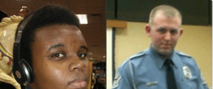 Michael Brown and police officer Darren Wilson