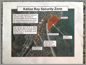 Kailua security zone (US Coast Guard)