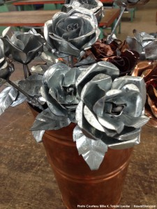 Sheet Metal Roses Courtesy Billie K. Takaki Lueder