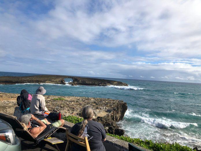 Great Whale Count volunteers observe humpback whales from Kaua'i, O'ahu, Hawai'i, and Maui