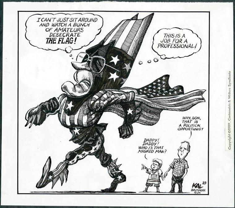 Exhibit highlights cartoonists' focus on First Amendment