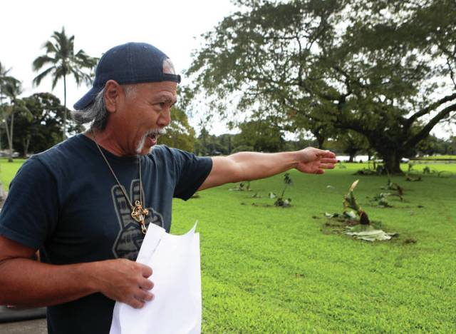 Activists occupy part of Wailoa state park