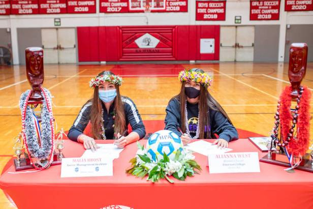 Hawaii Prep's Brost, West to continue their soccer careers abroad, at Emerson College