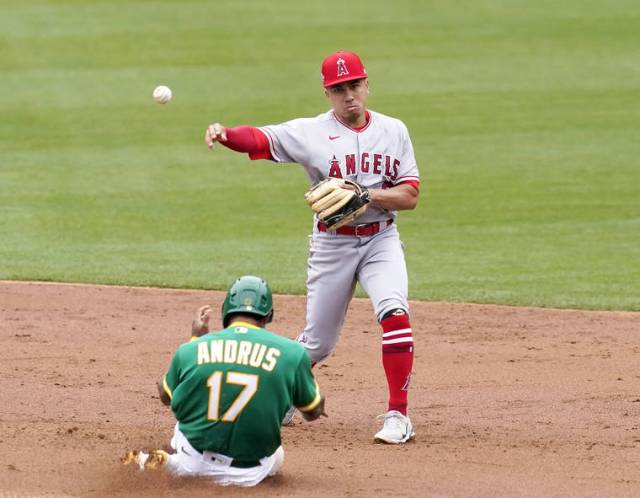 Back in the bigs: Kean Wong doubles in his bid at regular playing time with Angels