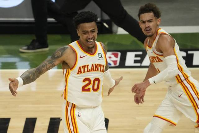 Young scores 48 points, Hawks beat Bucks 116-113 in Game 1