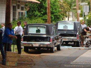 Double funeral for Sawyer's parents.