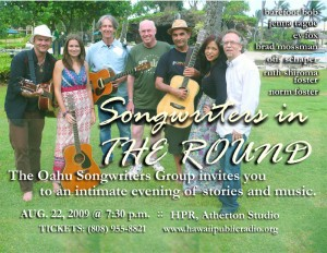 Songwriters in the Round Flyer