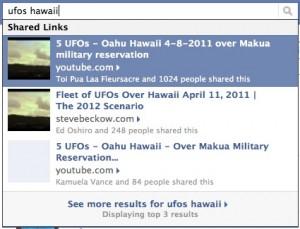UFO Over Oahu on Facebook