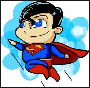 Chibi Superman by Valentino Valdez