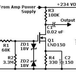 Guitar Output Jack Wiring Diagram Sony Home Theater System Fet Preamp With Lnd150 Operates On Tube B Part 1 Schematic