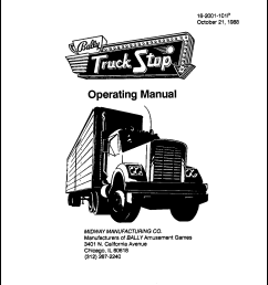 cover of my 1988 manual for truck stop first bally game after williams bought bally [ 1212 x 1649 Pixel ]