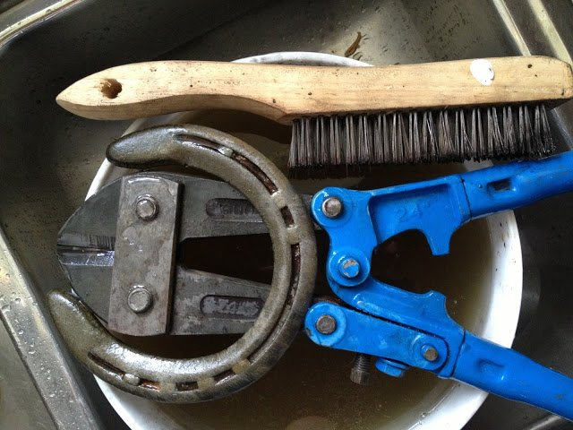 remove rust from metal tools and found objects without scrubbing witha soak in this natural solution