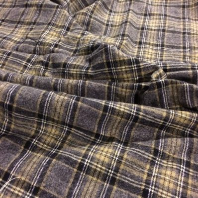 knockoff wool blanket tutorial- made with flannel plaid
