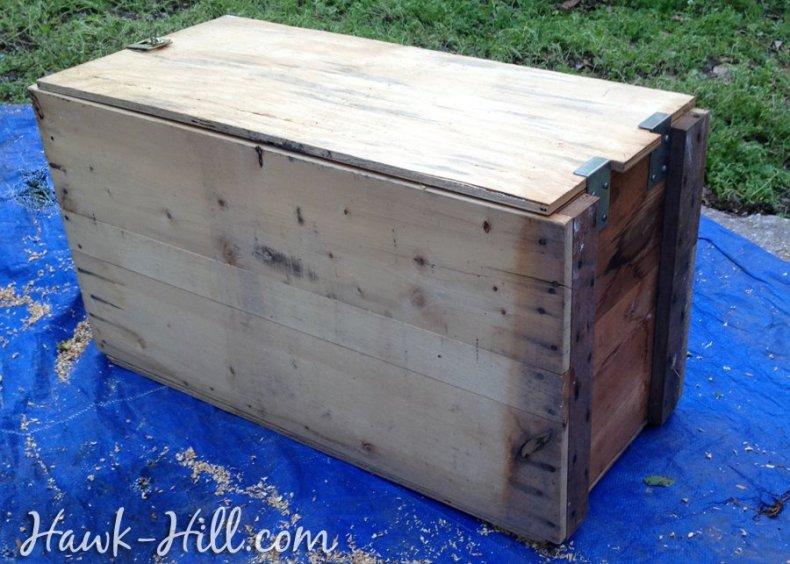 Shipping Crates like this can be easily turned into planters