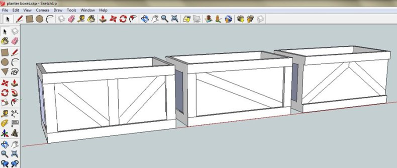 Use sketchup to plan your design in advance
