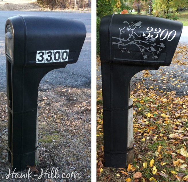 mailbox makeover before and after