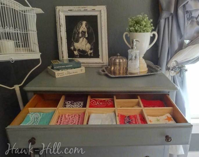 DIY Instructions to make drawer dividers for shallow drawers: Hawk-Hill.com
