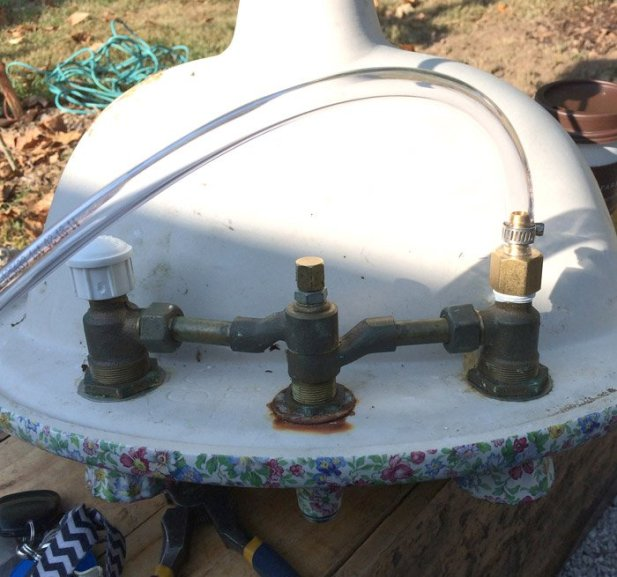how to convert a faucet into a fountain water feature for your garden 032