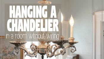 DIY: How to Turn a Hardwired Light Fixture (i.e. a Chandelier) Into ...