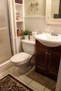 $300 Bathroom Remodel - Installing Shiplap or Paneling ...