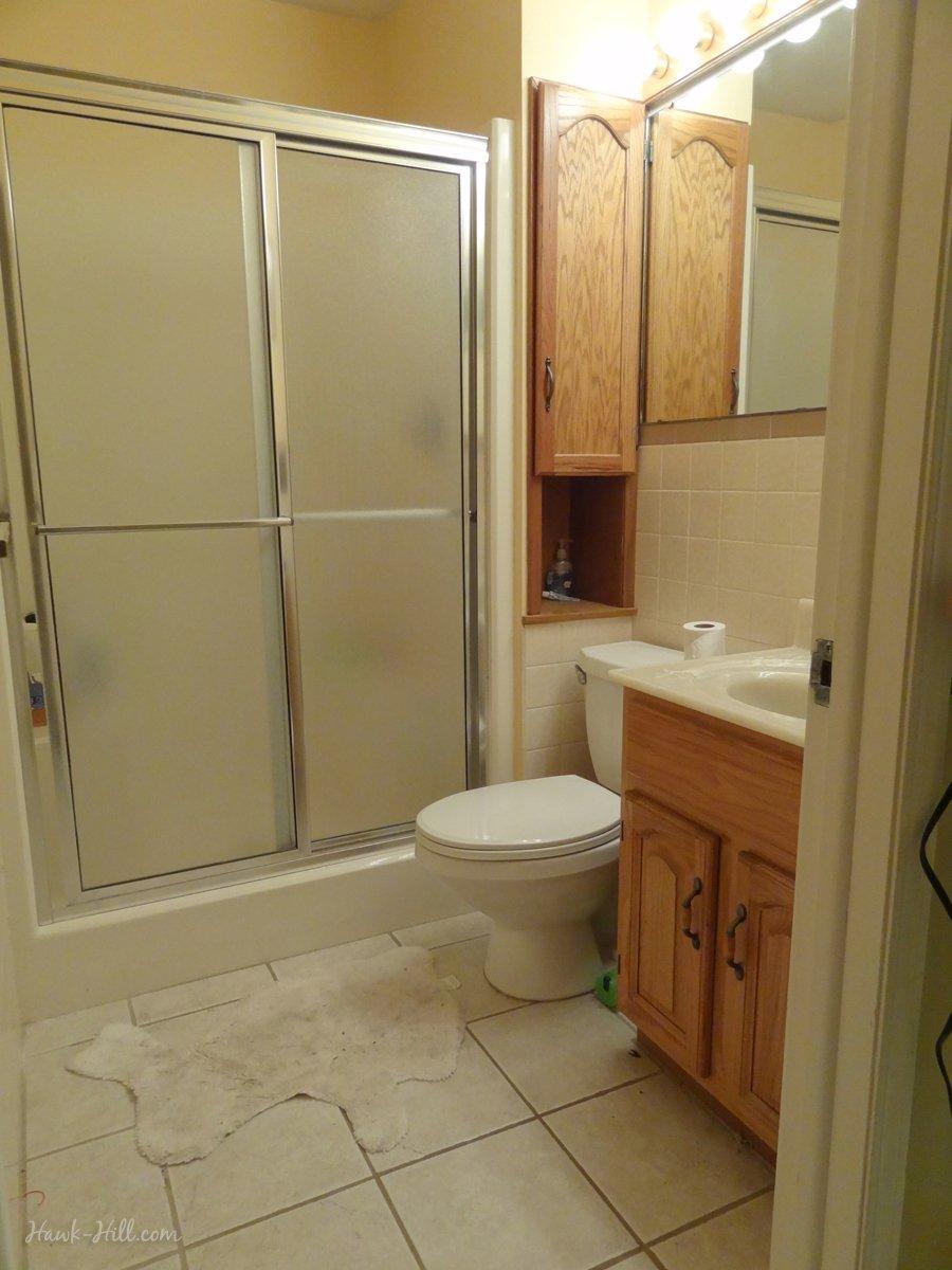 $300 Bathroom Remodel - Installing Shiplap or Paneling over Tile