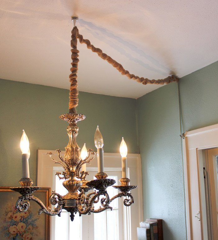 How to Hang a Chandelier in a Room without Wiring for an ... How To Install A Ceiling Light Fixture Without Existing Wiring on