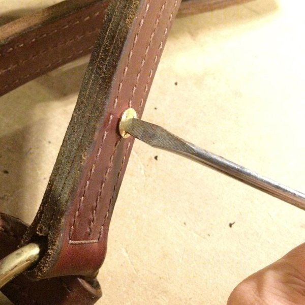 Attach a Horse Halter Plate without Specialty Tools 80