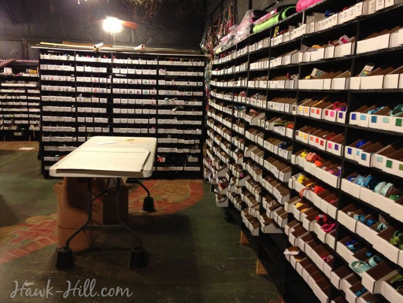 DIY high-volume small warehouse shelving for small businesses.
