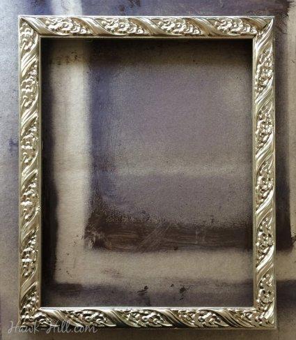 DIY antiqued gold frames 55