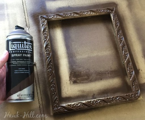 DIY antiqued gold frames 56