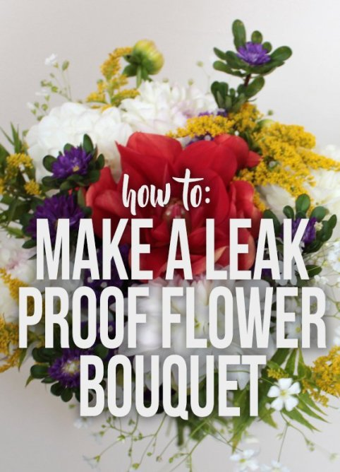 In this tutorial I show how to wrap a boquet that will last for days without needing water