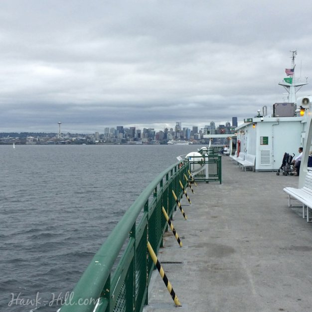 The view from the Bainbridge-Seattle Ferry upon returning to Seattle dock