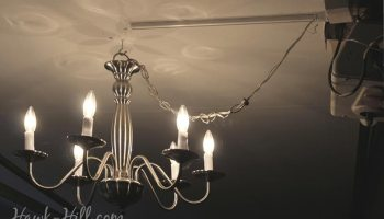 DIY Sweet Woodland Chandelier - Hawk Hill